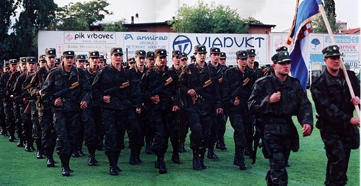 Svečano postrojavanje 28.04.1991.Stadion NK Zagreb